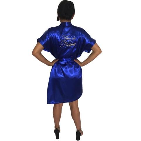 Robe de Cetim Feminino Bordado Personalizado Avó da Noiva