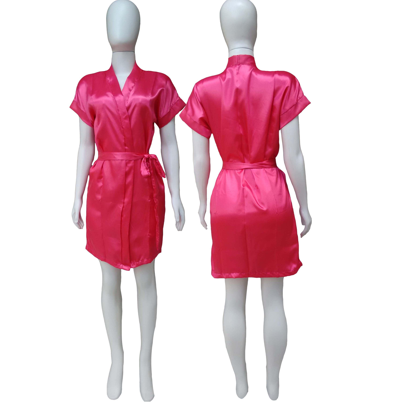 Robe de Cetim Feminino Normal Cor Rosa Pink