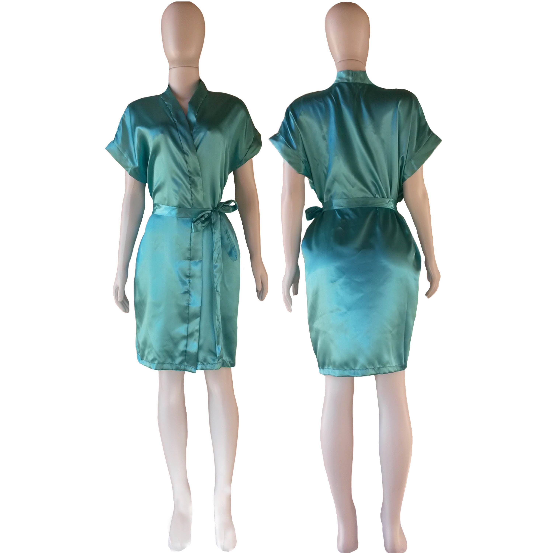 Robe de Cetim Feminino Normal Cor Verde Frozen