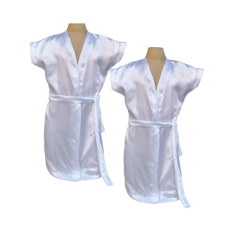 Robe Infantil de Cetim Feminino Daminha Branco