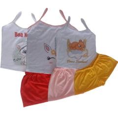 Baby Doll Short Doll de Malha Infantil Alça Fina Modelo 121