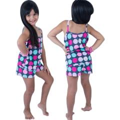 Baby Doll Short Doll Infantil de Malha  Feminino Alça Fina