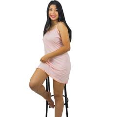 Camisola Lingerie de Malha Adulto Feminino Alça Fina
