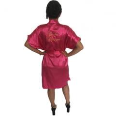 Robe Cetim Feminino Bordado Personalizado Tia da Noiva