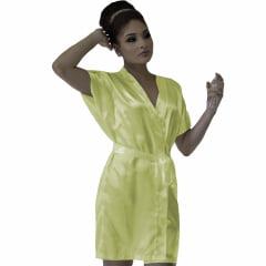 Robe de Cetim Feminino Normal Cor Amarelo Clarinho