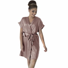 Robe de Cetim Feminino Normal Cor Old Rose