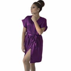 Robe de Cetim Feminino Normal Cor Spring