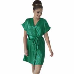 Robe de Cetim Feminino Normal Cor Verde