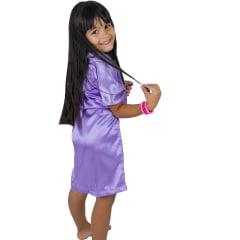 Robe Infantil de Cetim Feminino Daminha Lilás