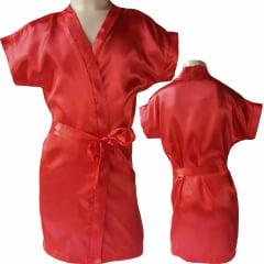Robe Infantil de Cetim Feminino Daminha Vermelho