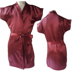 Robe Infantil de Cetim Feminino Daminha Vinho